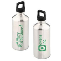 View a larger, more detailed picture of the h2go Stainless Bottle - 20 oz - Merry Christmas - Silver