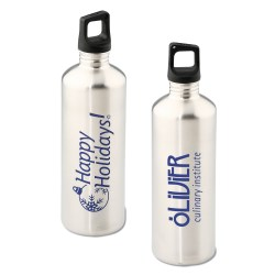 View a larger, more detailed picture of the h2go Stainless Bottle - 24 oz - Happy Holidays - Silver