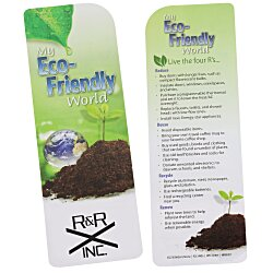 View a larger, more detailed picture of the Just the Facts Bookmark - Eco-Friendly