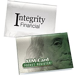 View a larger, more detailed picture of the ATM Debit Card Pocket Register - Money