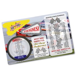 View a larger, more detailed picture of the Repositionable Sticker Spirit Card - Nascar