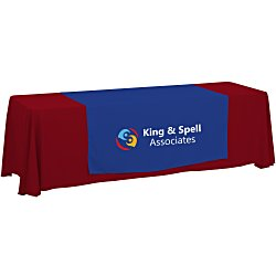 View a larger, more detailed picture of the 8 Closed-Back Table Throw and Runner Kit - 24 hr