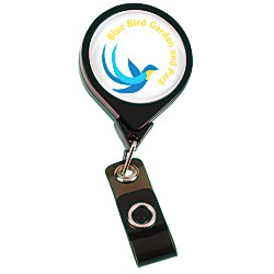 View a larger, more detailed picture of the Jumbo Retractable Badge Holder - 40 - Round - Opaque