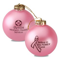 View a larger, more detailed picture of the Breast Cancer Awareness Ornament - Power