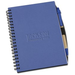View a larger, more detailed picture of the Recycled Brights Notebook w Pen