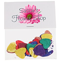 View a larger, more detailed picture of the Flower Seed Multicolor Confetti Pack - Heart