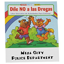 View a larger, more detailed picture of the Stay Drug Free Coloring Book - Spanish