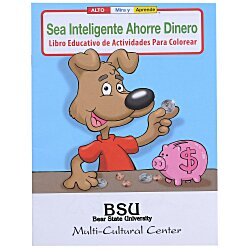 View a larger, more detailed picture of the Be Smart Save Money Coloring Book - Spanish