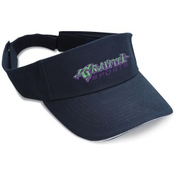 View a larger, more detailed picture of the Brushed Cotton Sandwich Visor - Embroidered