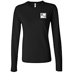 View a larger, more detailed picture of the Bella Canvas Long Sleeve Jersey T-Shirt - Ladies - Colors