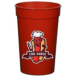 View a larger, more detailed picture of the Full Color Stadium Cup - 17 oz
