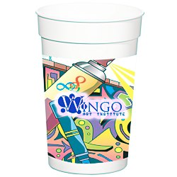View a larger, more detailed picture of the Full Color Wrap Stadium Cup - 17 oz