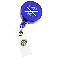 View a larger, more detailed picture of the Economy Retractable Badge Holder - Round - Translucent