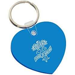 View a larger, more detailed picture of the Heart Soft Key Tag - Translucent