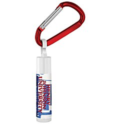 View a larger, more detailed picture of the Value Lip Balm with Carabiner - School Spirit