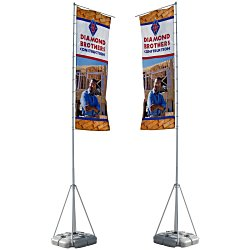 View a larger, more detailed picture of the Summit Outdoor Banner Flag - Double Sided Graphics