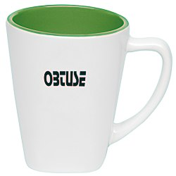 View a larger, more detailed picture of the Two Tone Square Ceramic Mug - 12 oz