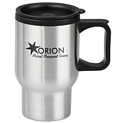 View a larger, more detailed picture of the Stainless Steel Travel Mug - 16 oz - 24 hr