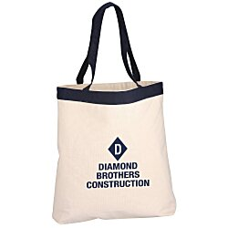 View a larger, more detailed picture of the 12 oz Cotton Canvas Color Band Tote