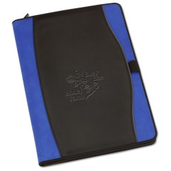 View a larger, more detailed picture of the Boomerang Zippered Padfolio