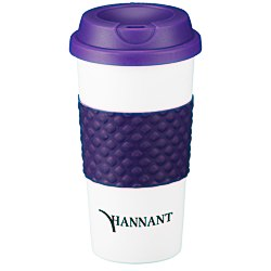 View a larger, more detailed picture of the Color Banded Classic Coffee Cup - 16 oz