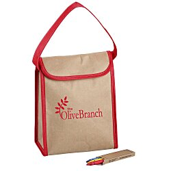 View a larger, more detailed picture of the Color-Me Activity Lunch Bag Set