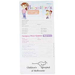 View a larger, more detailed picture of the Emergency Guide - Babysitter s