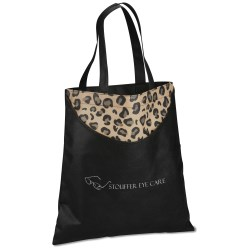 View a larger, more detailed picture of the Designer Print Scoop Tote - Leopard