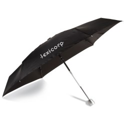 View a larger, more detailed picture of the totes Mini Auto Open Close Umbrella with Case - Black
