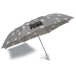 View a larger, more detailed picture of the Sports League Auto Open Umbrella - Baseball - Closeout