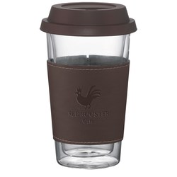 View a larger, more detailed picture of the Double Wall Glass Tumbler w Wrap - 10 oz