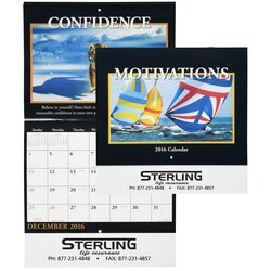 View a larger, more detailed picture of the Motivations 2016 Calendar - Stapled - Closeout