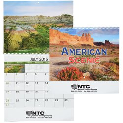 View a larger, more detailed picture of the American Scenic 2016 Calendar - Spiral - Closeout