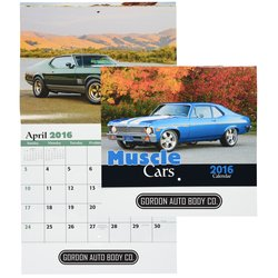 View a larger, more detailed picture of the Muscle Cars 2016 Calendar - Stapled - Closeout