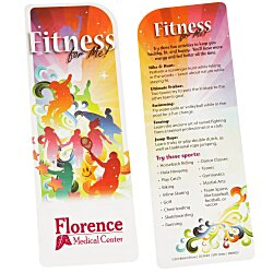 View a larger, more detailed picture of the Just the Facts Bookmark - Fitness For Me