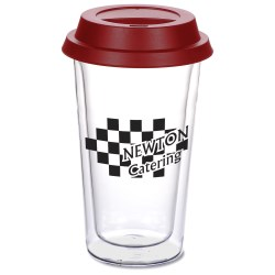 View a larger, more detailed picture of the Double Wall Glass Tumbler - 10 oz