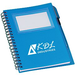 View a larger, more detailed picture of the Business Card Notebook with Pen - Translucent