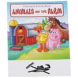 View a larger, more detailed picture of the Animals On The Farm Coloring Book