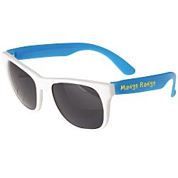 View a larger, more detailed picture of the Neon Sunglasses with White Frames