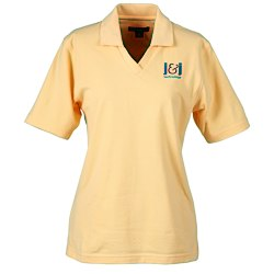 View a larger, more detailed picture of the Blue Generation Superblend Johnny Collar Pique Polo -Ladies