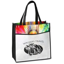 View a larger, more detailed picture of the Laminated Sunburst Tote - Closeout