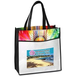 View a larger, more detailed picture of the Laminated Sunburst Tote - Full Color - Closeout