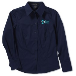 View a larger, more detailed picture of the North End Poplin Taped Shirt - Ladies