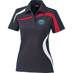 View a larger, more detailed picture of the North End Sport Color Block Polo - Ladies