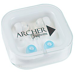 View a larger, more detailed picture of the Ear Buds w Interchangeable Covers - Bright White