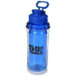 View a larger, more detailed picture of the Cool Gear No Sweat Sport Bottle - 20 oz