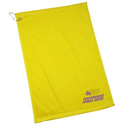 View a larger, more detailed picture of the Golf Towel with Grommet and Clip - 24 hr