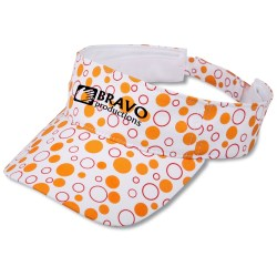 View a larger, more detailed picture of the Sassy Polka Dot Visor - Closeout
