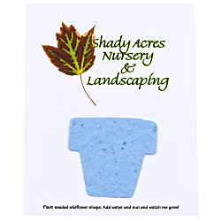 View a larger, more detailed picture of the Seeded Paper Shapes Mailer Postcard - 4 x 5 Flower Pot