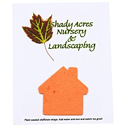 View a larger, more detailed picture of the Seeded Paper Shapes Mailer Postcard - 4 x 5 House
